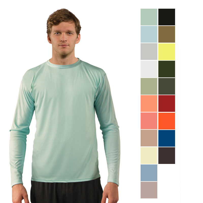 Vapor Mens Solar Performance L/S for Sublimation Imprinting