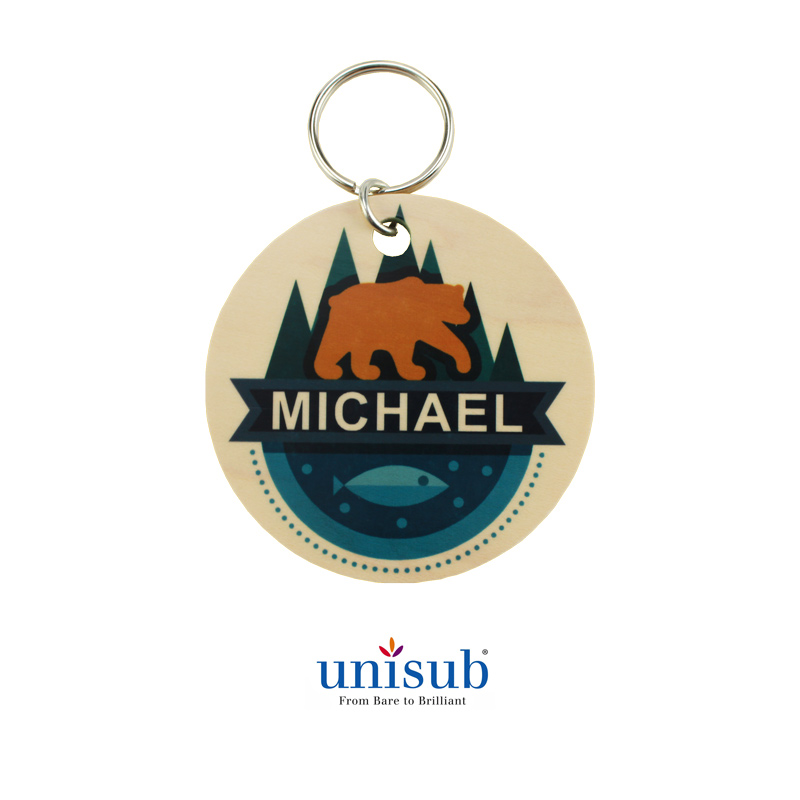 Unisub® Natural Wood Key Tags for Sublimation Imprinting
