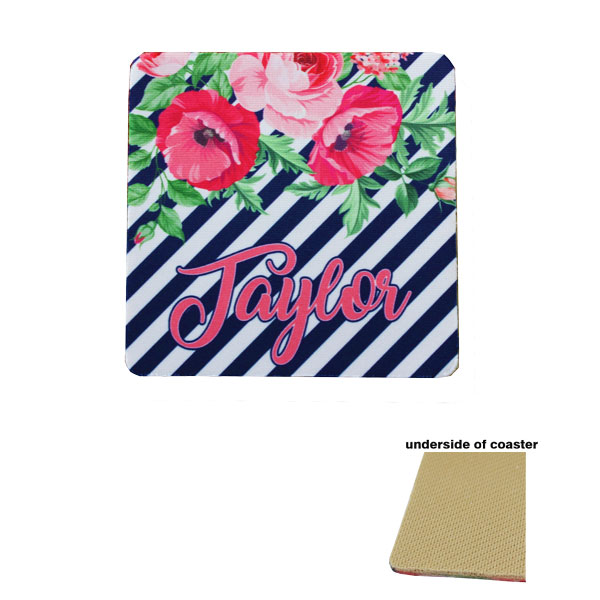 Tan Backed Rubber Coasters for Sublimation Imprinting