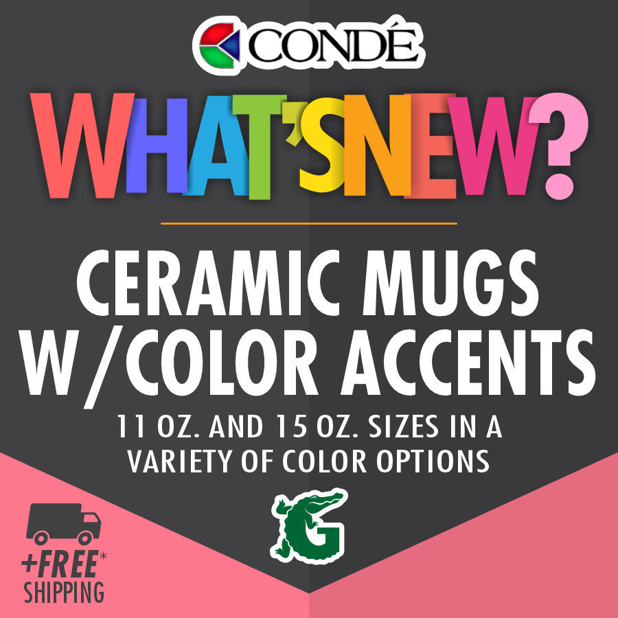 Ceramic Mugs with Color Accents