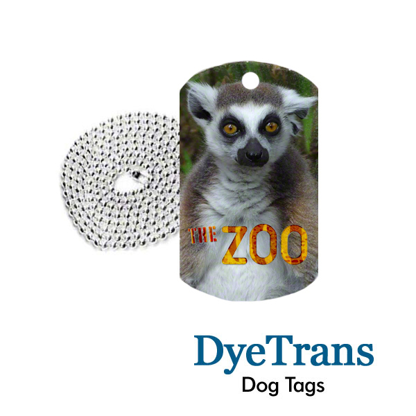 DyeTrans Dog Tags for Sublimation Imprinting