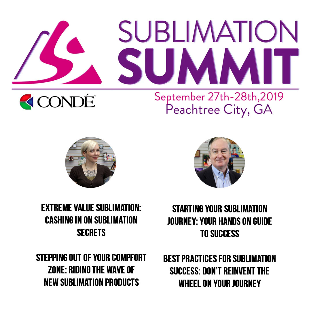 Sublimation - Conde Systems - 27 Years Expert Experience