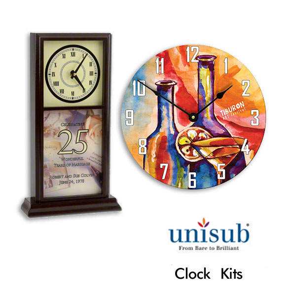 Unisub Clocks for Sublimation Imprinting