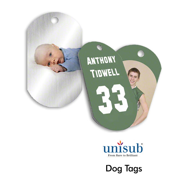 Unisub Dog Tags for Sublimation Imprinting
