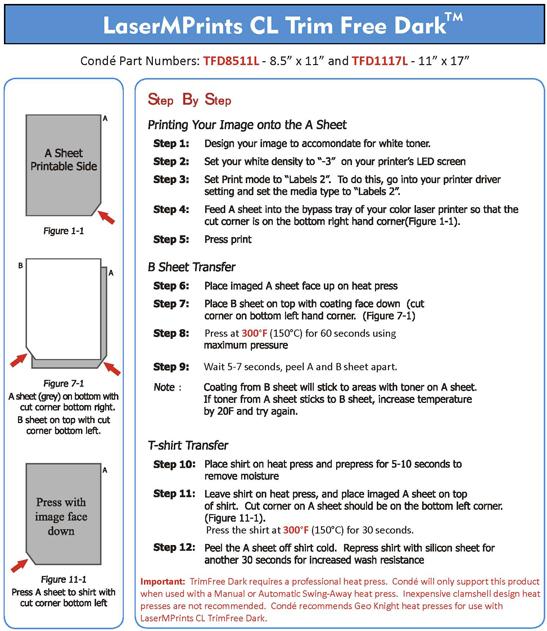 dark transfer paper instructions
