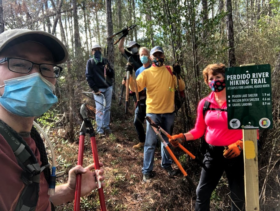 Gulf Coast Chapter adds new mileage signs to the Perdido River Hiking Trail
