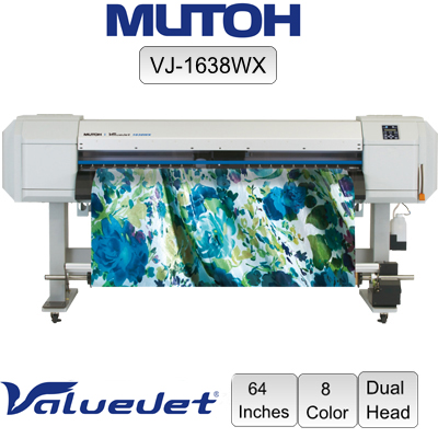 "Mutoh® ValueJet™ VJ-1638WX 8 Color 64"" Dual Heads"
