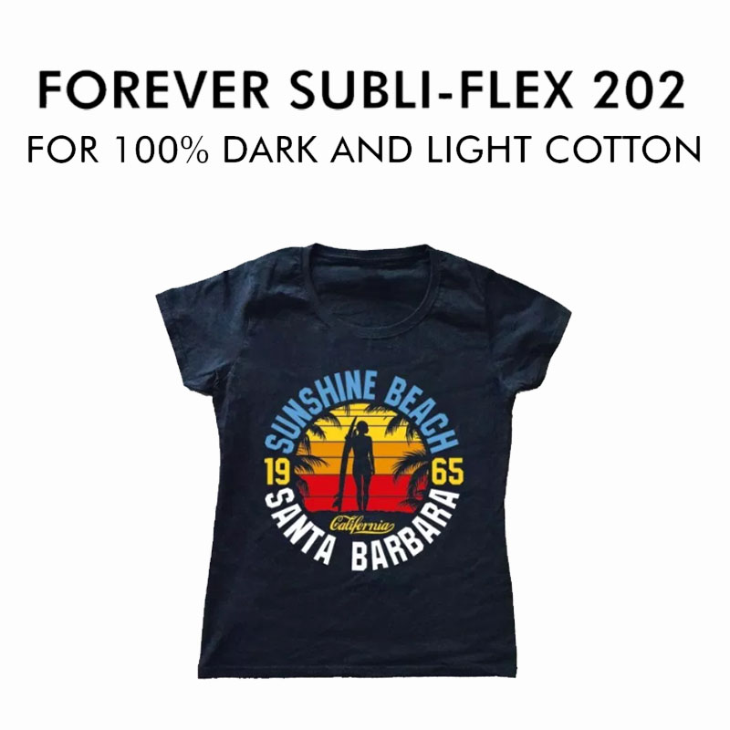 "Sublimation Paper For Dark Fabrics 100 Sheets 8.5""x11/"" Forever SUBLI-FLEX 202"