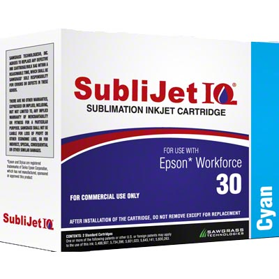 WF30 - SubliJetIQ™ Sublimation Ink - Cyan