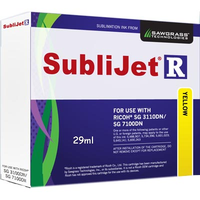 3110/7100 Printers SubliJet-R Ink -  Yellow