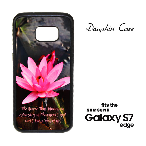 Samsung Galaxy S7 EDGE Dauphin Phone Case - Black