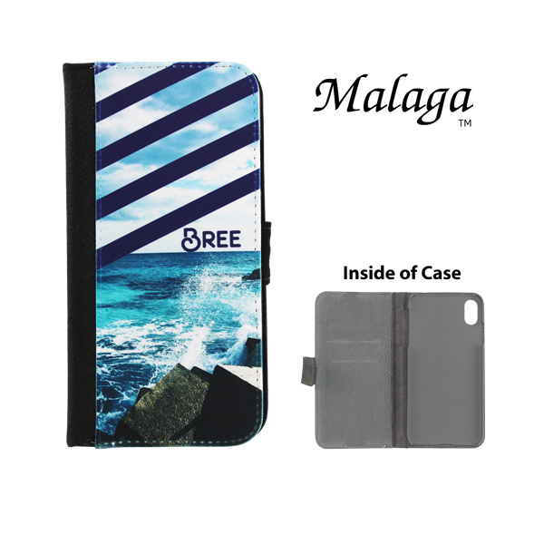 Dyetrans Sublimation Blank iPhone XS MAX Malaga Notebook Case - Black