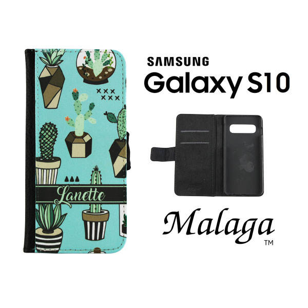 Dyetrans Sublimation Blank Samsung S10 Folding Malaga Notebook Case - Black