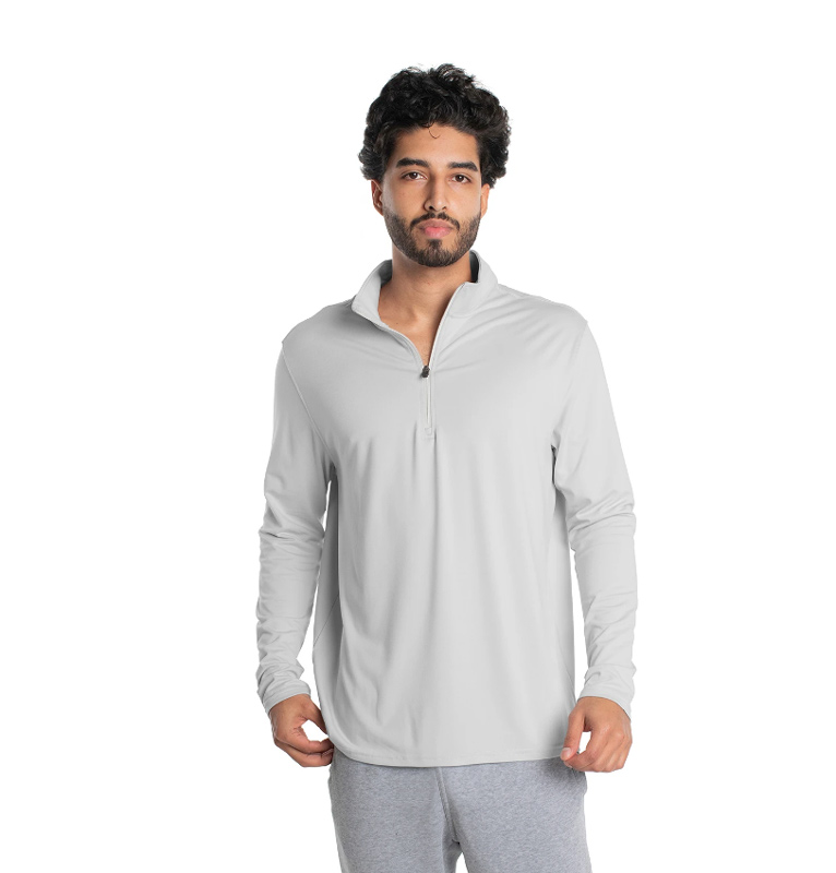 Vapor Adult Midweight Quarter Zip Pullover - Pearl Grey