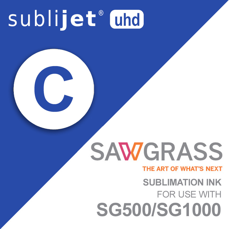 SG500/SG1000 SubliJet UHD Ink Carts - 31mL - Cyan