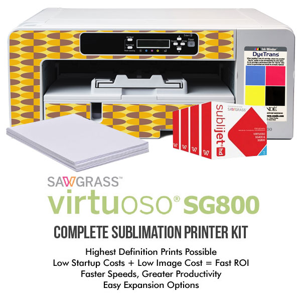 Sawgrass® SG800 Complete Sublimation System with High Capacity Inks