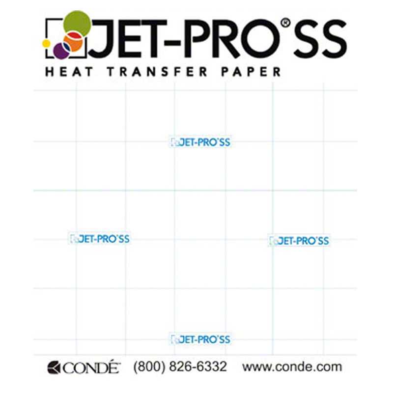 "JET PRO SOFSTRETCH INKJET HEAT IRON ON TRANSFER PAPER 11 x 17/"" 50 SHEETS"