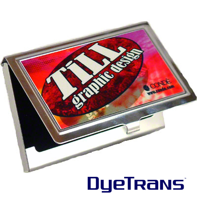 Dyetrans stainless steel business card holder colourmoves