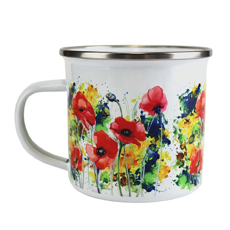 DyeTrans Sublimation Blank Camp Mug - Enamel - 11oz