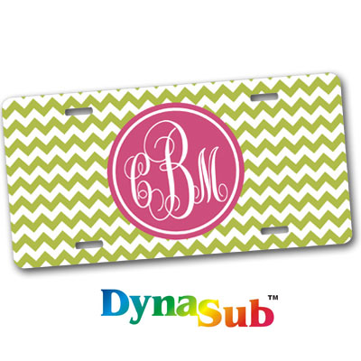 DynaSub White Gloss Aluminum License Plate - License plate name tag template