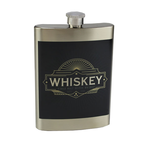 Luma Steel™ Sublimation Blank Silver Stainless Steel Flask - 8oz