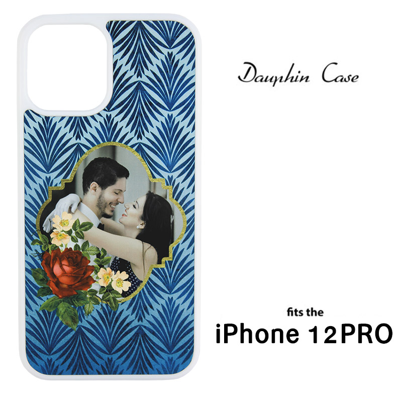 iPhone® 12/12 Pro Dauphin™ Sublimation Blank Rubber Case - White w/ Aluminum Insert