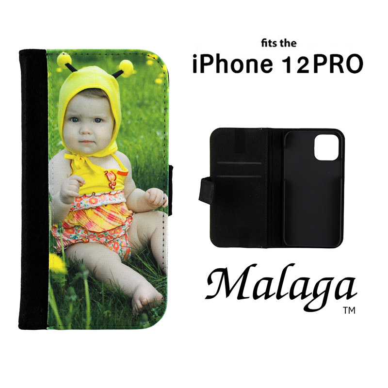 iPhone® 12 ProMalaga Notebook Sublimation Blank Case - Black