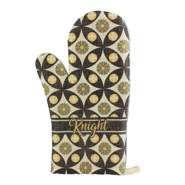 PolyLinen Sublimation Oven Mitt - Natural Tan