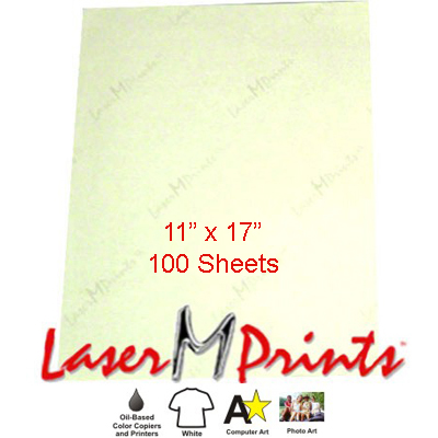 11x17 LaserMPrints CL Transfer Paper - 100 sheets