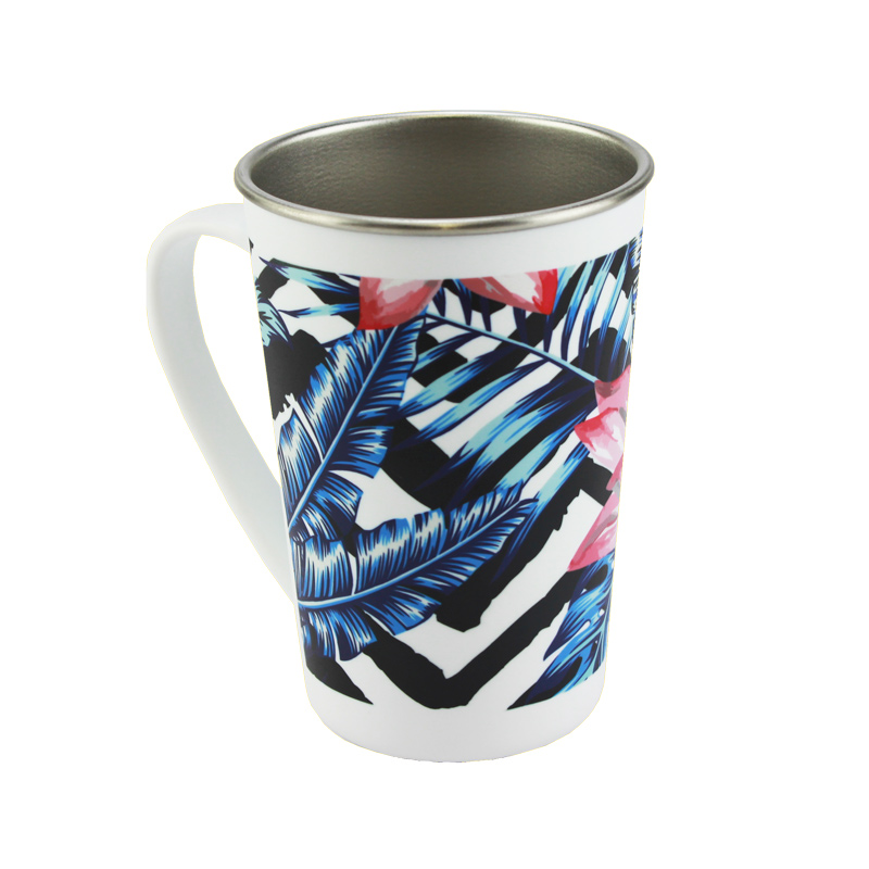17oz Stainless Steel Polymer Injected Latte Mug