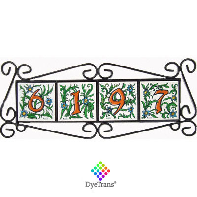 Dyetrans Black Wrought Iron Tile Frame