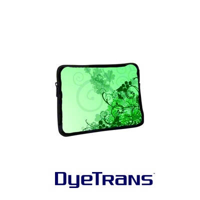DyeTrans Sublimation Blank Neoprene Laptop Sleeve w/Zipper - 7.75