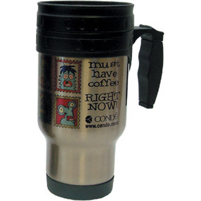 DyeTrans Sublimation Blank Stainless Steel Travel Mug - 12oz - Clear