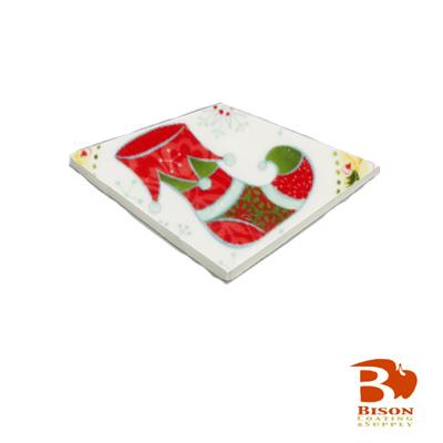 X Bison Spacerless Ceramic Tile Matte White - 4x4 matte white ceramic tile