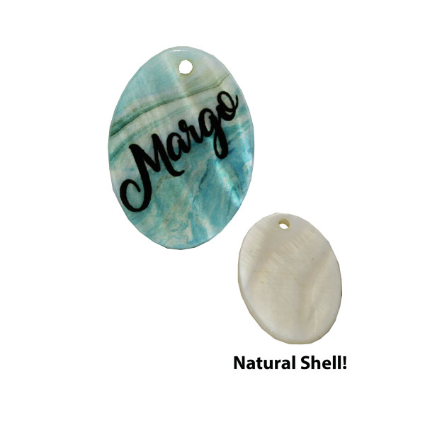 LumaShell™ Sublimation Blank Natural Shell Pendant - 17.5x25mm - Small Oval