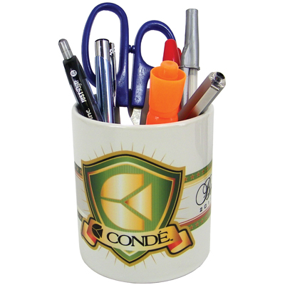 DyeTrans Sublimation Blank Ceramic Pencil Holder