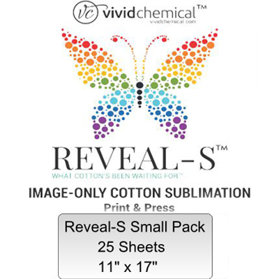 11x17 Reveal-S Cotton Sublimation Film - 25 Sheets