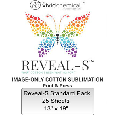 13x19 Reveal-S Cotton Sublimation Film -25 Sheets