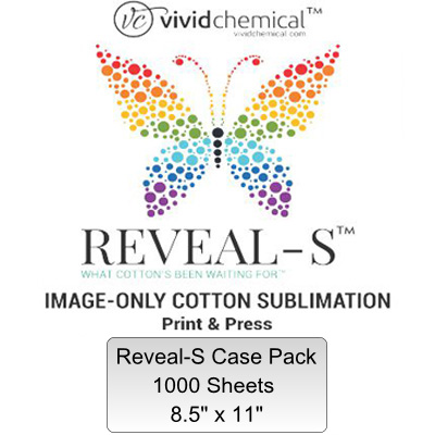 8.5x11 Reveal-S Cotton Sublimation Film-1000 Sheet