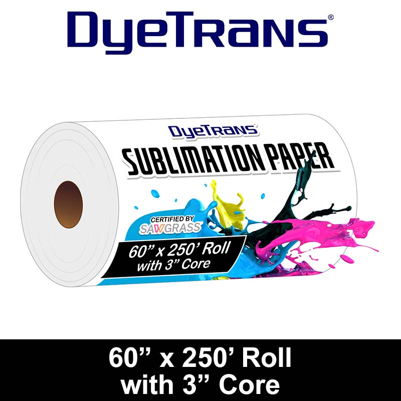 DyeTrans 60x250 Sublimation Paper Foot Roll