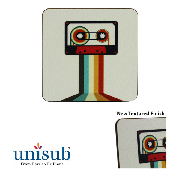 Unisub Sublimation Blank Textured Hardboard Magnet - Square