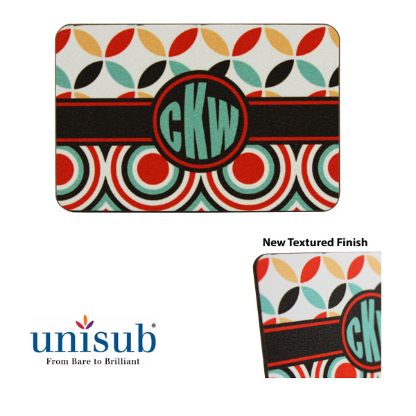 Unisub Sublimation Blank Textured Hardboard Magnet - Rectangle
