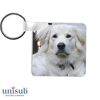 2.25 Square FRP Key Tag 2sided - White Gloss
