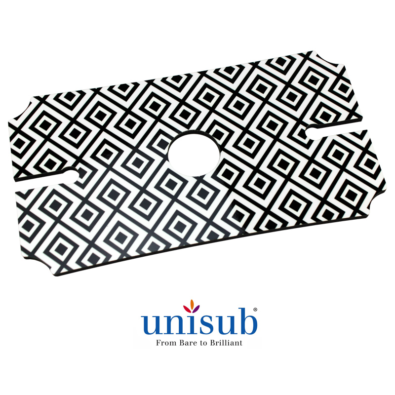 Unisub Sublimation Blank Hardboard Wine Glass Holder Tray - 5.25