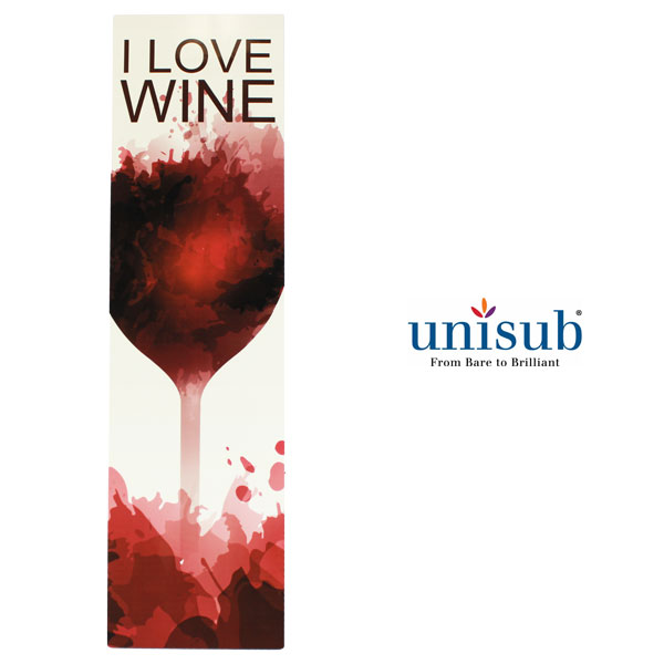 Unisub Sublimation Blank Hardboard Insert for Wood Wine Box - 3.73