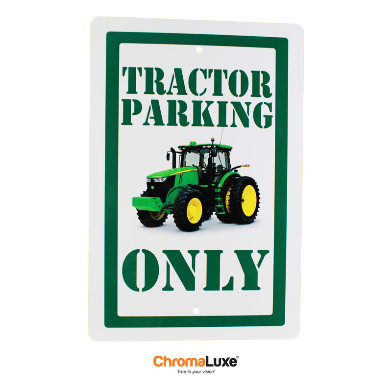 12x18 ChromaLuxe® EXT Parking Sign - Gloss White