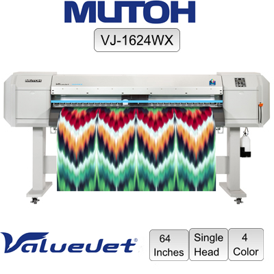 Mutoh® VJ 1624WX 64 Printer 4-color - Single Head