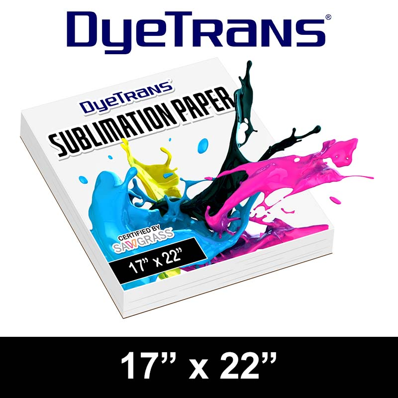 DyeTrans Multi-Purpose Sublimation Transfer Paper - 100 Sheets - 17 x 22