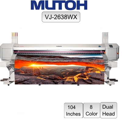 "Mutoh® ValueJet™ VJ-2638WX 8 Color 104"" wide"
