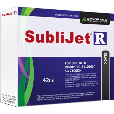 3110/7100 Printers SubliJet-R Ink -  Black